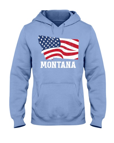 Montana 4th of July American Flag Patriotic