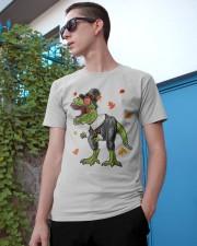 Dinosaur Thanksgiving Pilgrim Shirt T Rex Gifts Classic T-Shirt apparel-classic-tshirt-lifestyle-17