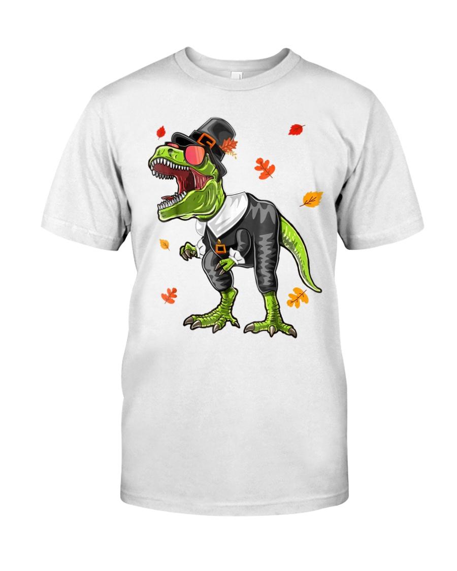 Dinosaur Thanksgiving Pilgrim Shirt T Rex Gifts Classic T-Shirt