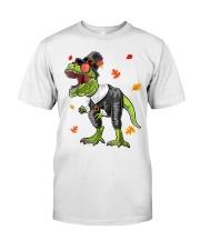 Dinosaur Thanksgiving Pilgrim Shirt T Rex Gifts Premium Fit Mens Tee thumbnail
