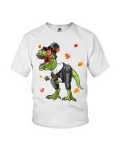 Dinosaur Thanksgiving Pilgrim Shirt T Rex Gifts Youth T-Shirt thumbnail
