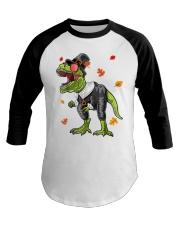 Dinosaur Thanksgiving Pilgrim Shirt T Rex Gifts Baseball Tee thumbnail