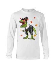 Dinosaur Thanksgiving Pilgrim Shirt T Rex Gifts Long Sleeve Tee thumbnail