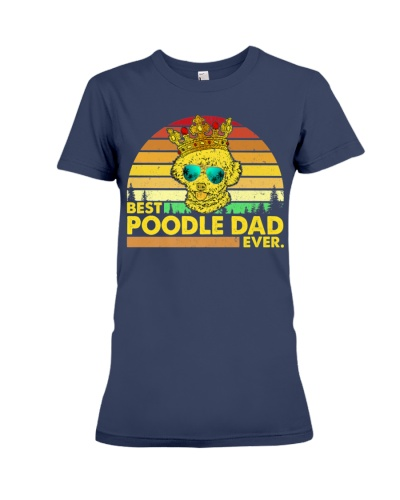 Vintage Best Poodle Dad Ever Dog Daddy Father