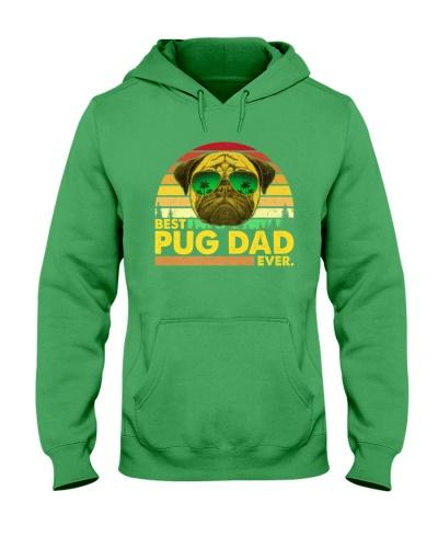 Vintage Best Pug Dad Ever Dog Daddy Father