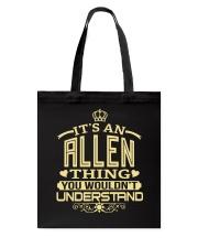 ALLEN THING GOLD SHIRTS Tote Bag thumbnail