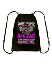CALL ME DRIVER TRAINER GRANDMA JOB SHIRTS Drawstring Bag thumbnail