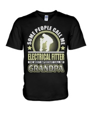 CALL ME ELECTRICAL FITTER GRANDPA JOB SHIRTS V-Neck T-Shirt thumbnail