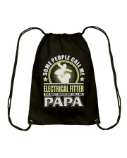 CALL ME ELECTRICAL FITTER PAPA JOB SHIRTS Drawstring Bag thumbnail
