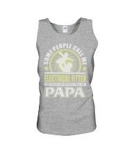 CALL ME ELECTRICAL FITTER PAPA JOB SHIRTS Unisex Tank thumbnail