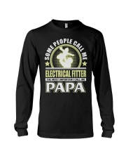 CALL ME ELECTRICAL FITTER PAPA JOB SHIRTS Long Sleeve Tee thumbnail