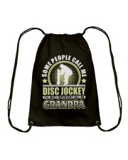 CALL ME DISC JOCKEY GRANDPA JOB SHIRTS Drawstring Bag thumbnail