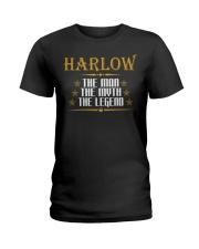HARLOW THE MAN THE LEGEND SHIRTS Ladies T-Shirt thumbnail