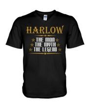 HARLOW THE MAN THE LEGEND SHIRTS V-Neck T-Shirt thumbnail