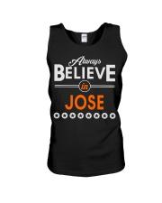 Always Believe in JOSE Shirts Unisex Tank thumbnail