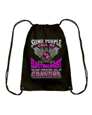 CALL ME ELECTROLOGIST GRANDMA JOB SHIRTS Drawstring Bag thumbnail