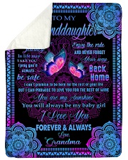 """I LOVE YOU - GREAT GIFT FOR GRANDDAUGHTER Large Sherpa Fleece Blanket - 60"""" x 80"""" thumbnail"""