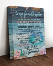 THE GIFT OF LIFE - GRAMMY TO GRANDDAUGHTER 11x14 Gallery Wrapped Canvas Prints aos-canvas-pgw-11x14-lifestyle-front-17