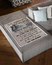 "I LOVE YOU - GRANDMA TO GRANDDAUGHTER Small Fleece Blanket - 30"" x 40"" aos-coral-fleece-blanket-30x40-lifestyle-front-03"
