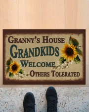 """WELCOME OTHERS TOLERATED - GREAT GIFT FOR GRANNY Doormat 22.5"""" x 15""""  aos-doormat-22-5x15-lifestyle-front-10"""