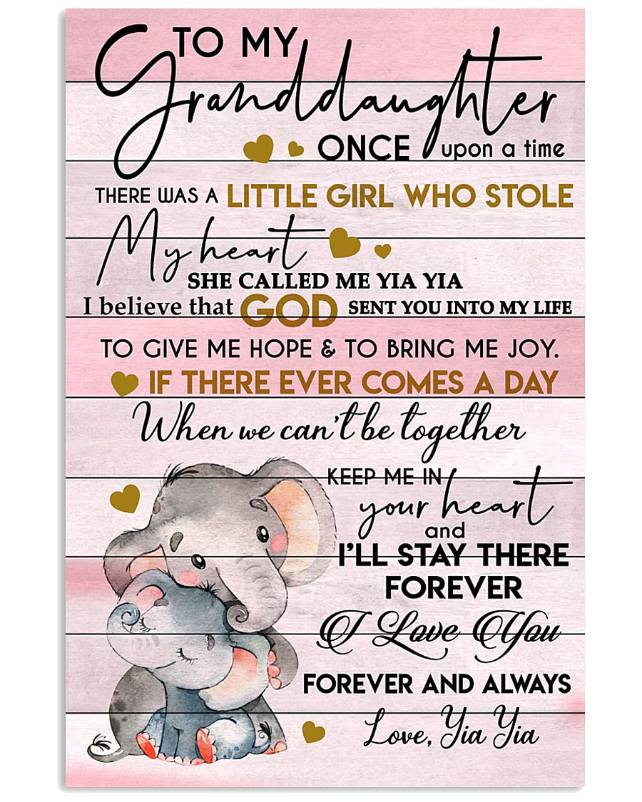 STOLE MY HEART - SPECIAL GIFT FOR GRANDDAUGHTER 11x17 Poster