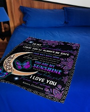 """YOU ARE MY SUNSHINE - GRANDMA TO GRANDDAUGHTER Small Fleece Blanket - 30"""" x 40"""" aos-coral-fleece-blanket-30x40-lifestyle-front-02"""