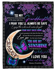 """YOU ARE MY SUNSHINE - GRANDMA TO GRANDDAUGHTER Small Fleece Blanket - 30"""" x 40"""" front"""