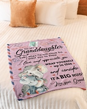 """IT A BIG HUG - LOVELY GIFT FOR GRANDDAUGHTER Small Fleece Blanket - 30"""" x 40"""" aos-coral-fleece-blanket-30x40-lifestyle-front-01"""