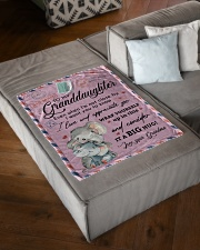 """IT A BIG HUG - LOVELY GIFT FOR GRANDDAUGHTER Small Fleece Blanket - 30"""" x 40"""" aos-coral-fleece-blanket-30x40-lifestyle-front-03"""