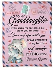 "IT A BIG HUG - LOVELY GIFT FOR GRANDDAUGHTER Small Fleece Blanket - 30"" x 40"" front"