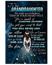 YOU WILL NEVER LOSE - BEST GIFT FOR GRANDDAUGHTER 11x17 Poster front