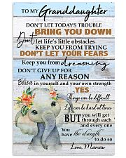 DON'T LET YOUR FEARS - BEST GIFT FOR GRANDDAUGHTER 11x17 Poster front