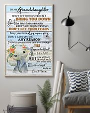 DON'T LET YOUR FEARS - BEST GIFT FOR GRANDDAUGHTER 11x17 Poster lifestyle-poster-1