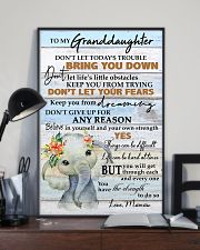 DON'T LET YOUR FEARS - BEST GIFT FOR GRANDDAUGHTER 11x17 Poster lifestyle-poster-2