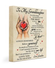 MY HEART - BEST GIFT FOR GRANDDAUGHTER 11x14 Gallery Wrapped Canvas Prints front