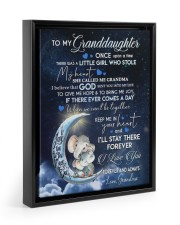 I LOVE YOU - GRANDDAUGHTER GIFT WITH ELEPHANT 11x14 Black Floating Framed Canvas Prints thumbnail
