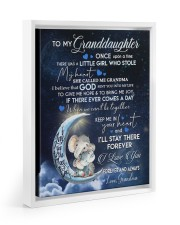 I LOVE YOU - GRANDDAUGHTER GIFT WITH ELEPHANT 11x14 White Floating Framed Canvas Prints thumbnail