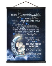 I LOVE YOU - GRANDDAUGHTER GIFT WITH ELEPHANT 12x16 Black Hanging Canvas thumbnail