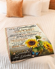 "YOU ARE MY SUNSHINE - BEST GIFT FOR GRANDDAUGHTER Small Fleece Blanket - 30"" x 40"" aos-coral-fleece-blanket-30x40-lifestyle-front-01"