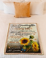 "YOU ARE MY SUNSHINE - BEST GIFT FOR GRANDDAUGHTER Small Fleece Blanket - 30"" x 40"" aos-coral-fleece-blanket-30x40-lifestyle-front-04"