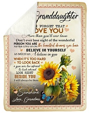 "YOU ARE MY SUNSHINE - BEST GIFT FOR GRANDDAUGHTER Large Sherpa Fleece Blanket - 60"" x 80"" thumbnail"