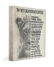 ALWAYS REMEMBER - LOVELY GIFT FOR GRANDDAUGHTER 11x14 Gallery Wrapped Canvas Prints front