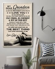 THE BEST THING - SPECIAL GIFT FOR GRANDSON 11x17 Poster lifestyle-poster-1