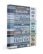 I LOVE YOU - TO GRANDDAUGHTER FROM GG 11x14 Gallery Wrapped Canvas Prints front