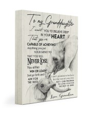 YOU WILL NEVER LOSE - GREAT GIFT FOR GRANDDAUGHTER 11x14 Gallery Wrapped Canvas Prints front