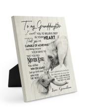 YOU WILL NEVER LOSE - GREAT GIFT FOR GRANDDAUGHTER 8x10 Easel-Back Gallery Wrapped Canvas thumbnail