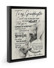 YOU WILL NEVER LOSE - GREAT GIFT FOR GRANDDAUGHTER 11x14 Black Floating Framed Canvas Prints thumbnail