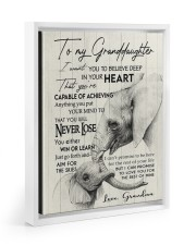 YOU WILL NEVER LOSE - GREAT GIFT FOR GRANDDAUGHTER 11x14 White Floating Framed Canvas Prints thumbnail