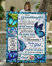 "I'M SO PROUD OF YOU - BEST GIFT FOR GRANDDAUGHTER Quilt 50""x60"" - Throw aos-quilt-50x60-lifestyle-front-01"