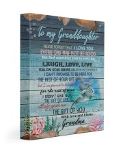 I LOVE YOU - BEST GIFT FOR GRANDDAUGHTER 11x14 Gallery Wrapped Canvas Prints front